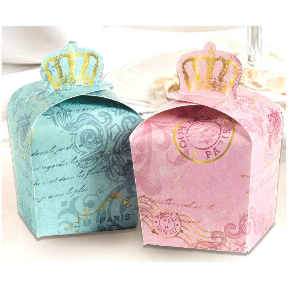 Parisian Favor Boxes Royal Crown / 8 Cajitas de Corona Royal