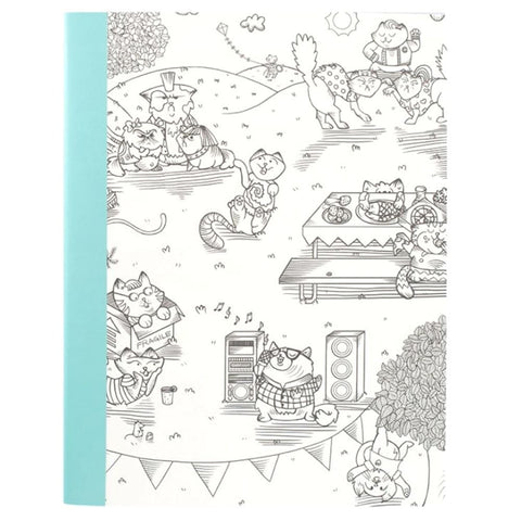 Adult Coloring Notebook  Kitty Karaoke / Libreta de Notas Rayada Personalizable