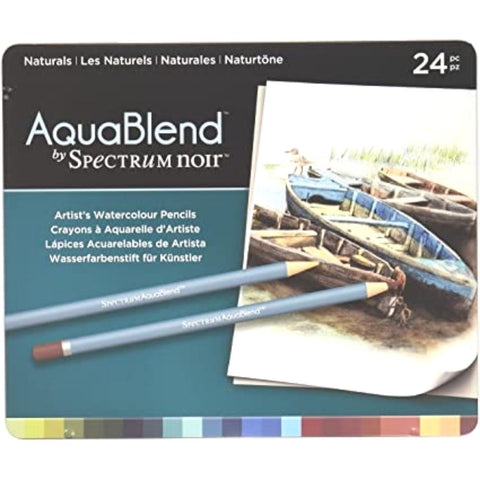 AquaBlend By Spectrum Noir Naturals 24 Set / Lápices de Colores Acuarelables