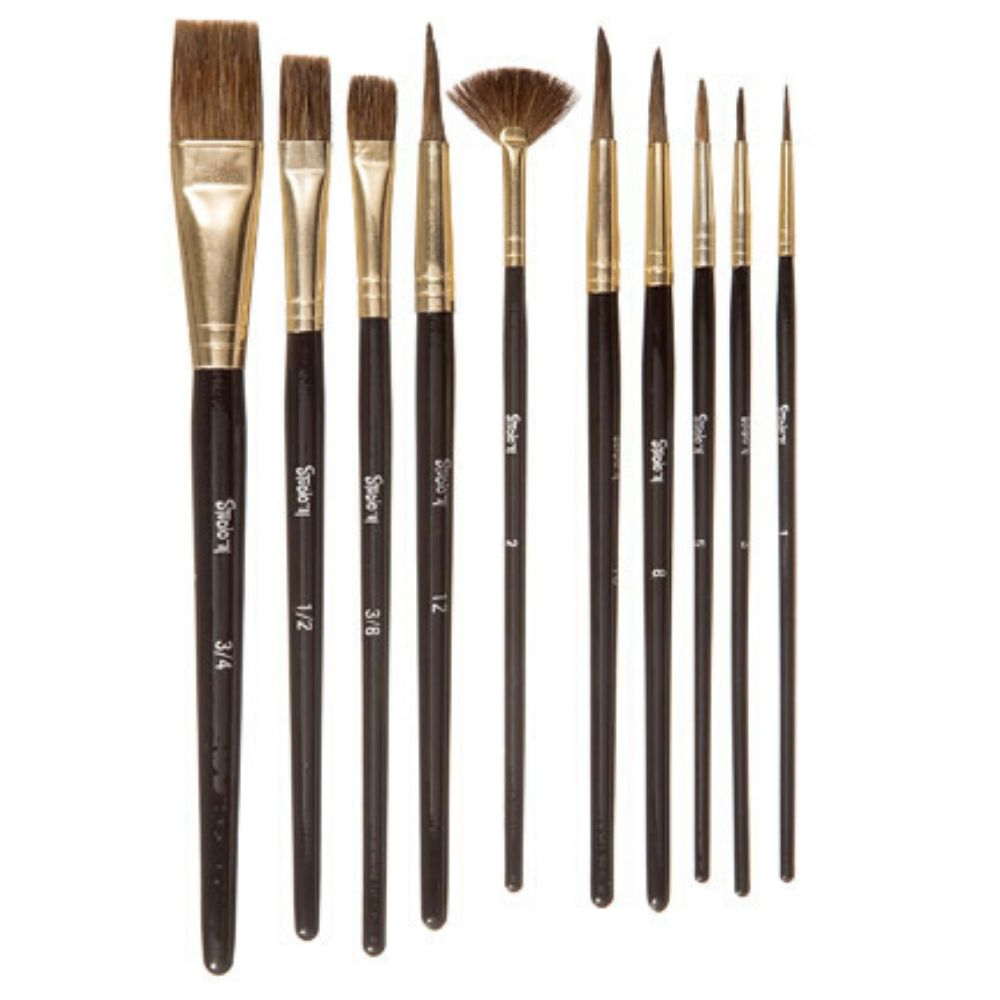 Studio 71 Natural Brush Set / Pinceles de Cerdas Naturales