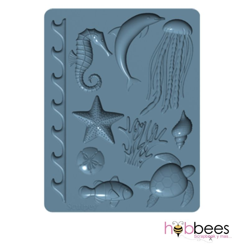 Flexible Push Mold Sea Life / Molde Flexible de Vida Marina