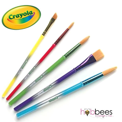 Art & Craft Brushes / Pinceles Pelo Natural Crayola