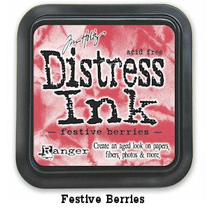 Cojin de tinta para sellos / Distress Festive Berries - Hobbees