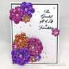 "Floral Foiled Papers 6""x12"" / 12 Hojas de Papel Tipo Alumino Doble Cara Colores Florales"