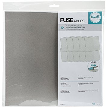 FuseAbles 12 x12 inch. Clear Sheets / Hojas Ultra Transparentes - Hobbees