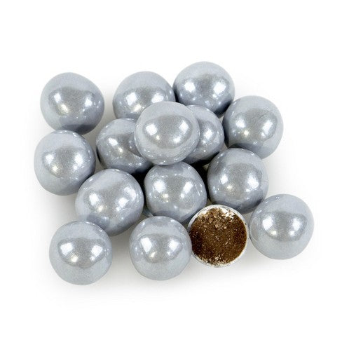Shimmer Silver Sixlets / Chocolates Plateados