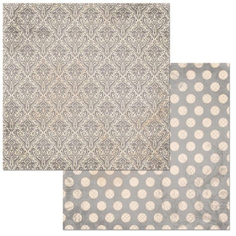 Double Dot Damask Double-Sided Cardstock / hojas de papel