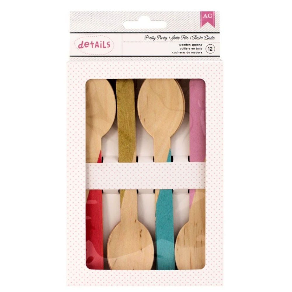 Pretty Party Spoons / Cucharas de Madera para Mesas de Dulces