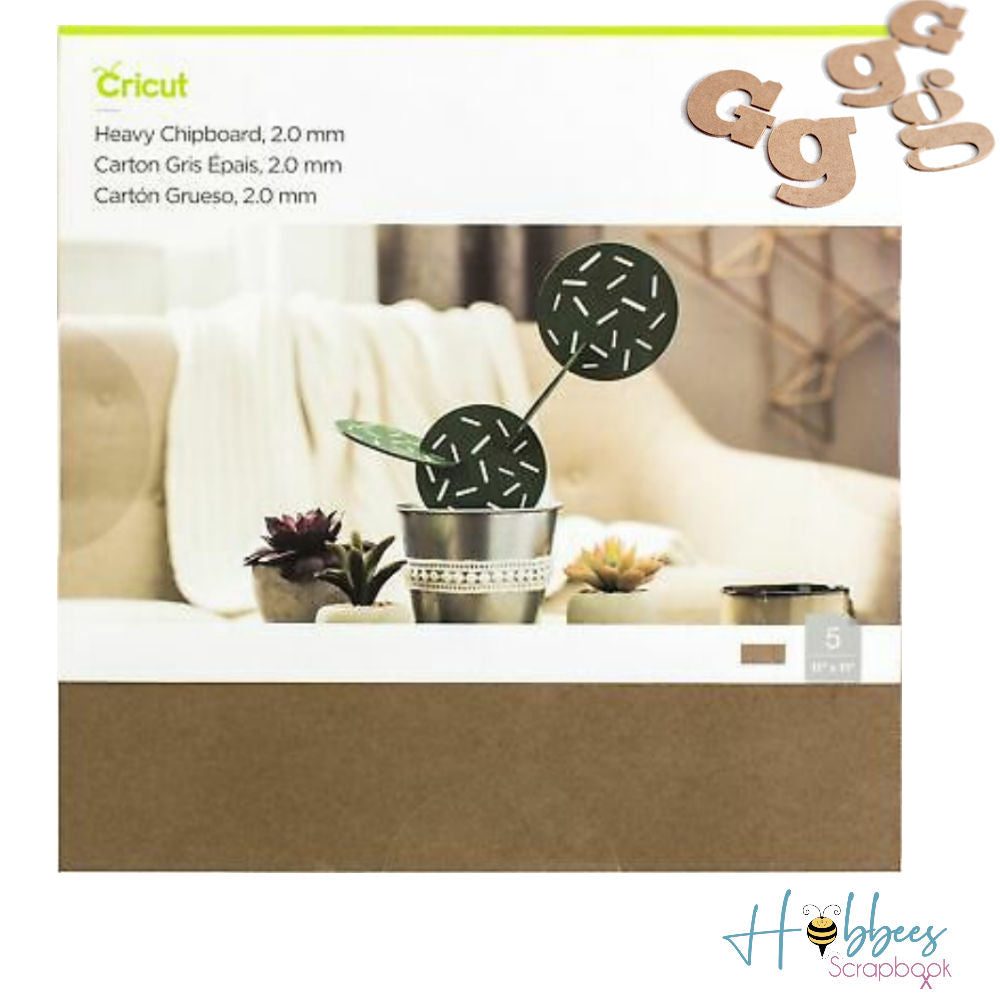 Heavy Chipboard / Madera Aglomerado para Cricut Maker
