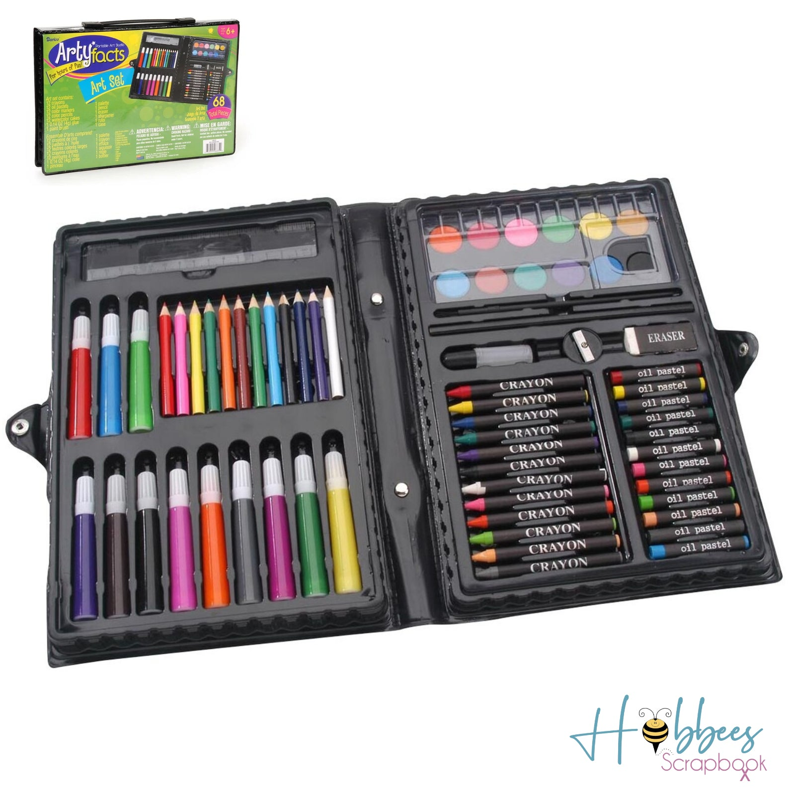 Artyfacts Portable Art Studio 68 Pieces / Set de Pintura Principiantes
