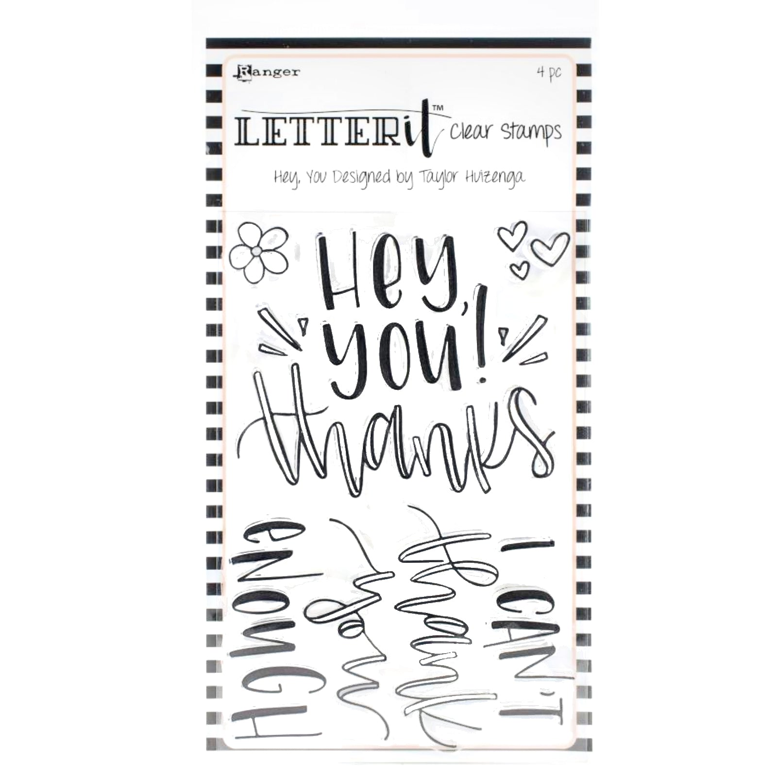 Letter It Clear Stamp  / Sello Acrílico Hey You