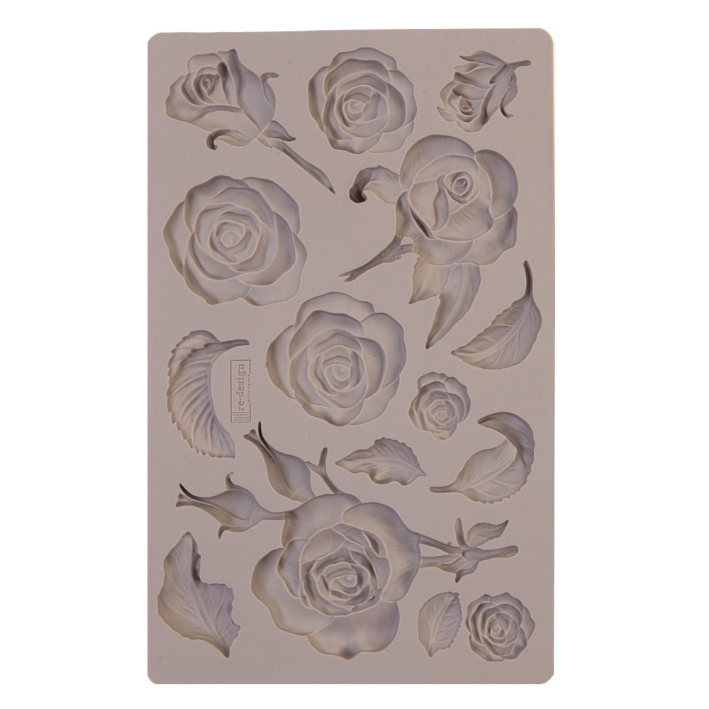 Re-Design Mould Fragrant Roses / Molde de Silicón Rosas