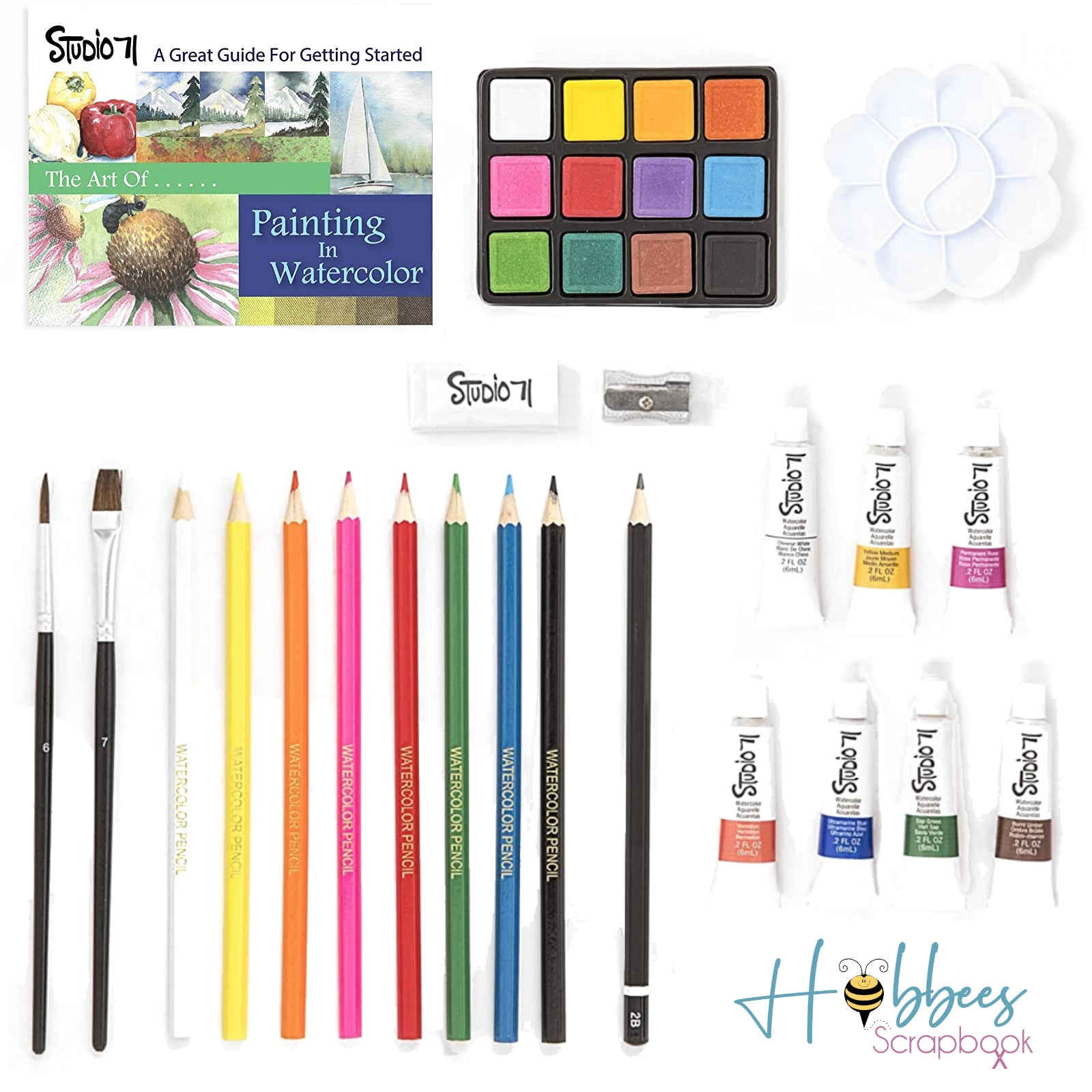 Studio 71 Watercolor Paint Set / Kit de Acuarelas 34 piezas