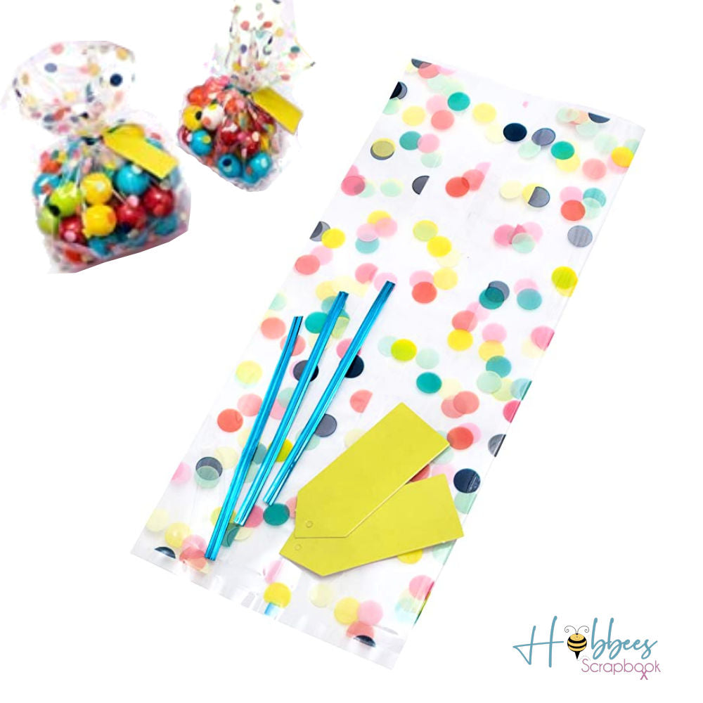Party Treat Bag Kit / Kit de 18 Bolsas Confetti