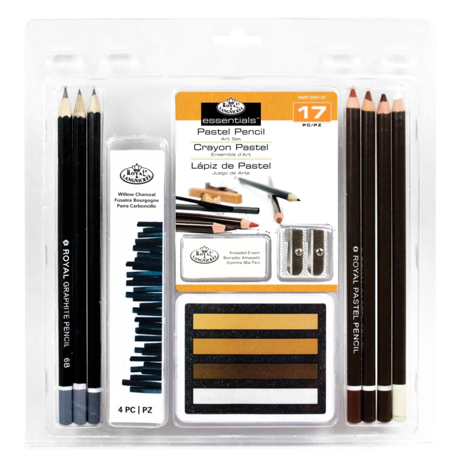 Pastel Pencil 17pc / Kit de Pasteles para Dibujo y Pintura