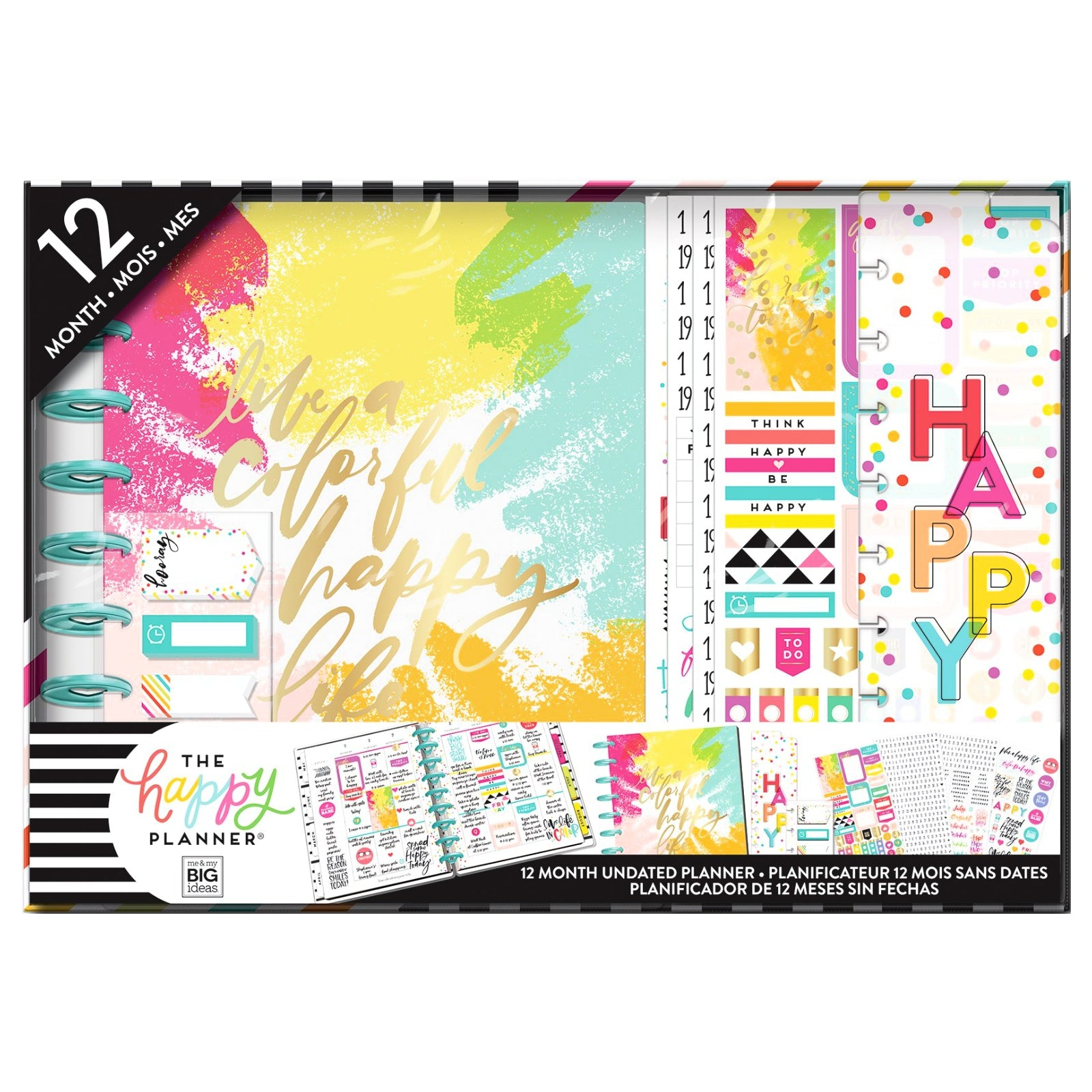Happy Planner Box Colorful Happy  / Kit de Agenda Planificadora Colores