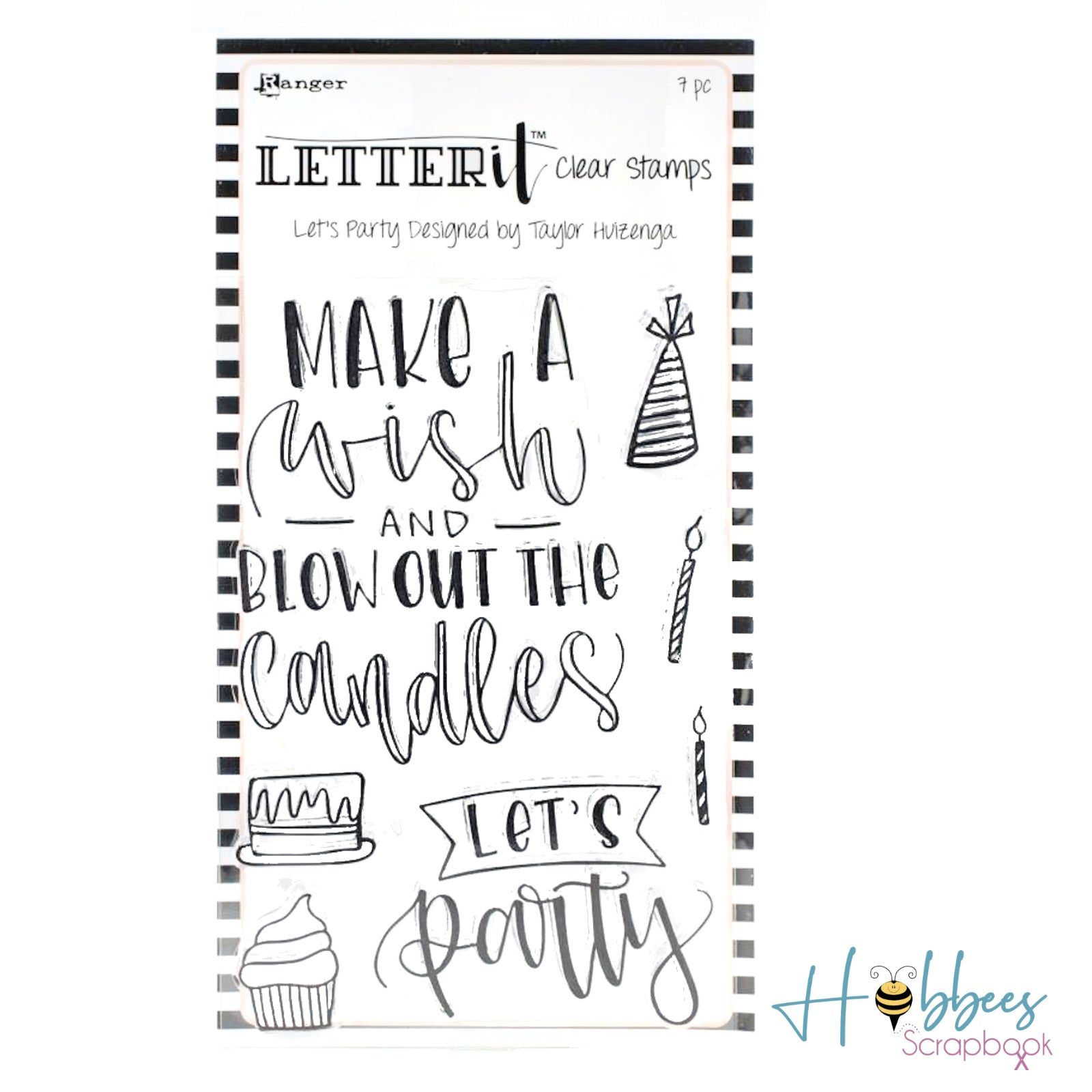 Ranger Letter It Clear Stamp / Sello Acrílico let´s party