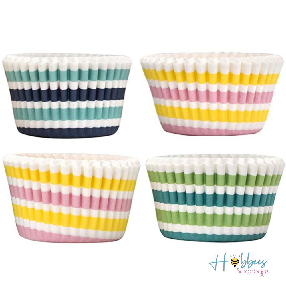 Stripes Baking Cups / Capacillos Decorativos