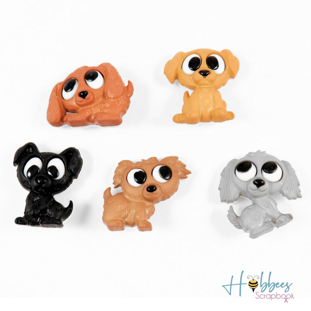 Playful Puppies Embellishments / Adornos de Perritos