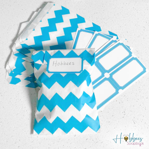 Party Bags & Labels Blue / Bolsas y Etiquetas para Regalar