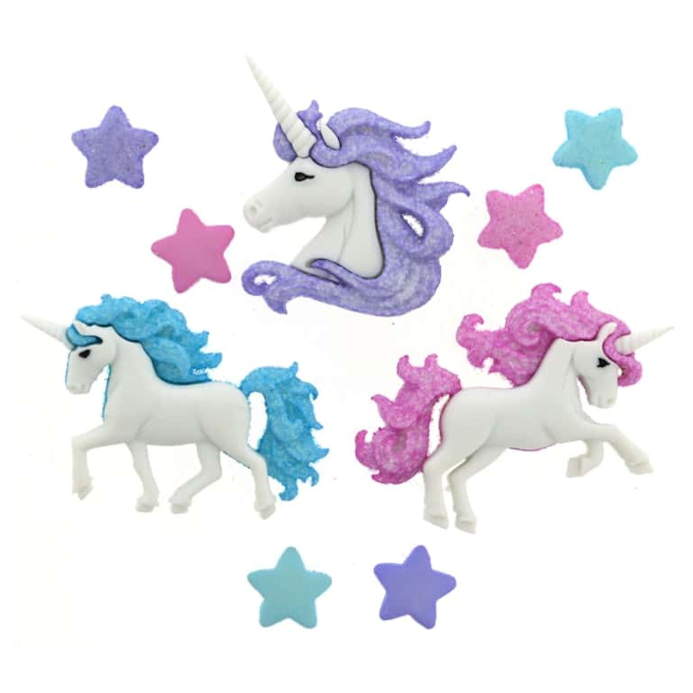Magical Unicorns Embellishments / Adornos de Unicornios