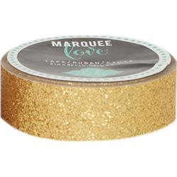 Decorative Tape Gold Glitter / Cinta Decorativa Dorada Con Brillitos