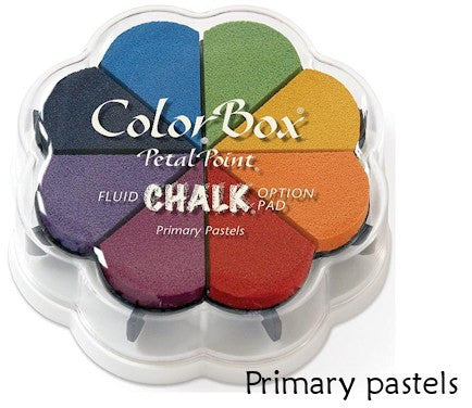 Cojines de tinta para sellos / Petal Point Primary Pastel Chalk Ink pad - Hobbees