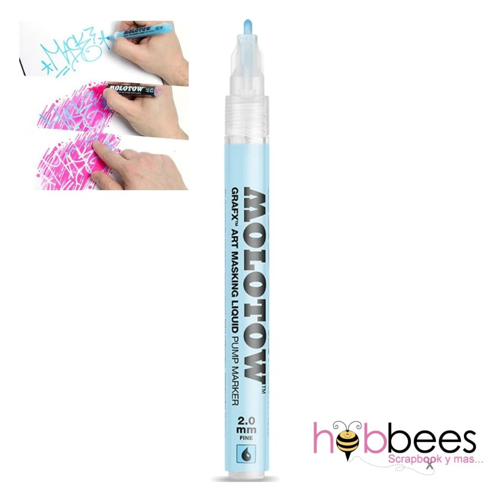 Masking Fluid Refillable Marker 2mm / Marcador Rellenable para Enmascarar