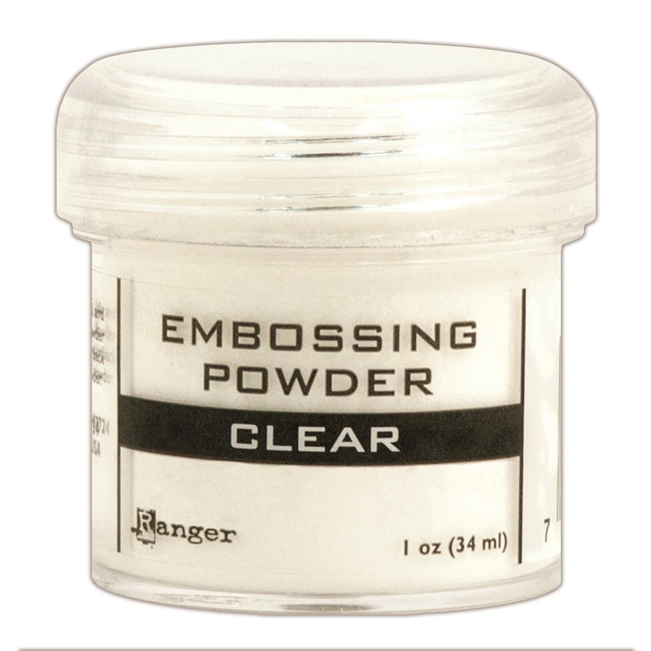 Clear Embossing Powder / Polvos de Realce Transparente - Hobbees