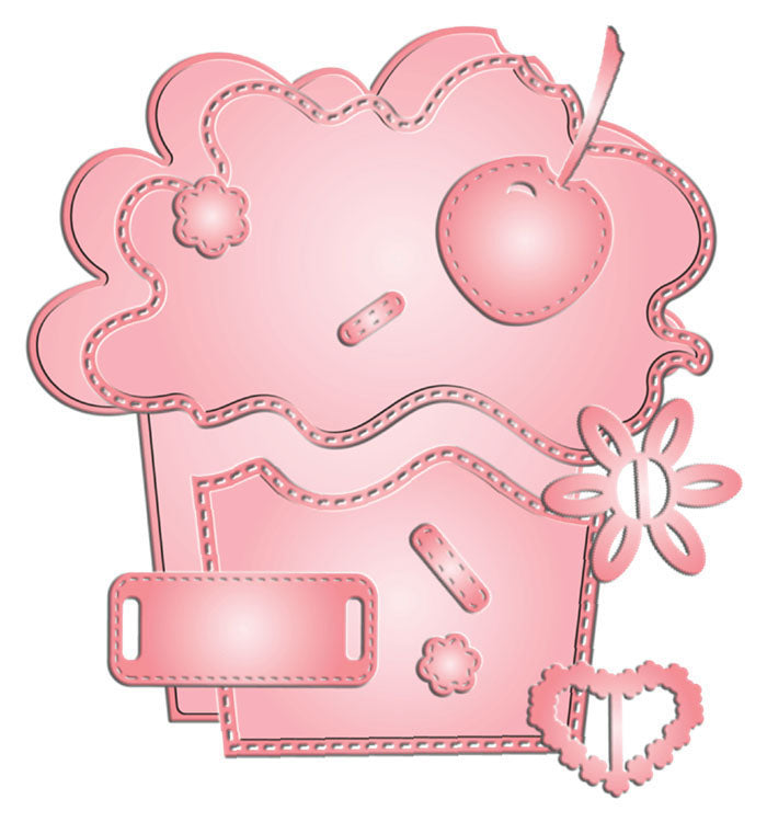 Build a Card Cherry on Top Dies / Suajes de Corte de Cupcake de Cereza
