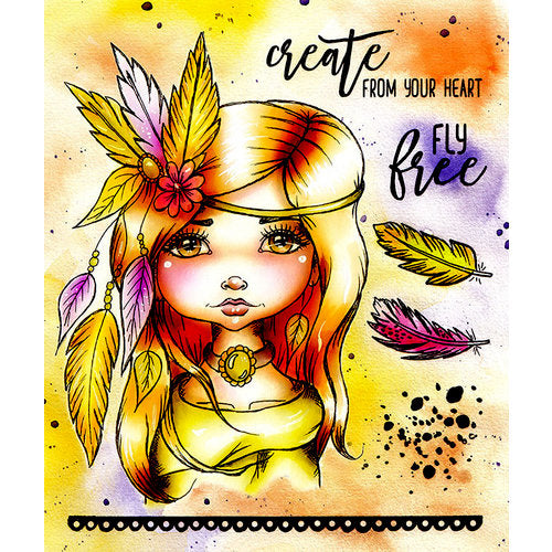 Cling Mounted Rubber Stamps - Art Journal - Fly Free / Sellos de Goma de Muñeca - Hobbees