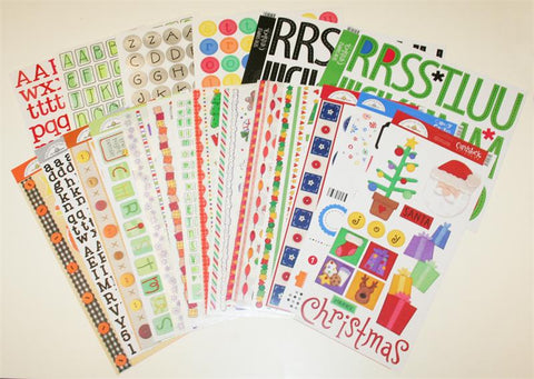 Cardstock Stickers Holidays / Calcomanías de Festividades - Hobbees