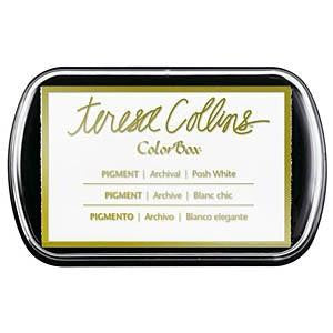 Teresa Collins Pigment Posh White / Tinta para Sellos Color Blanco