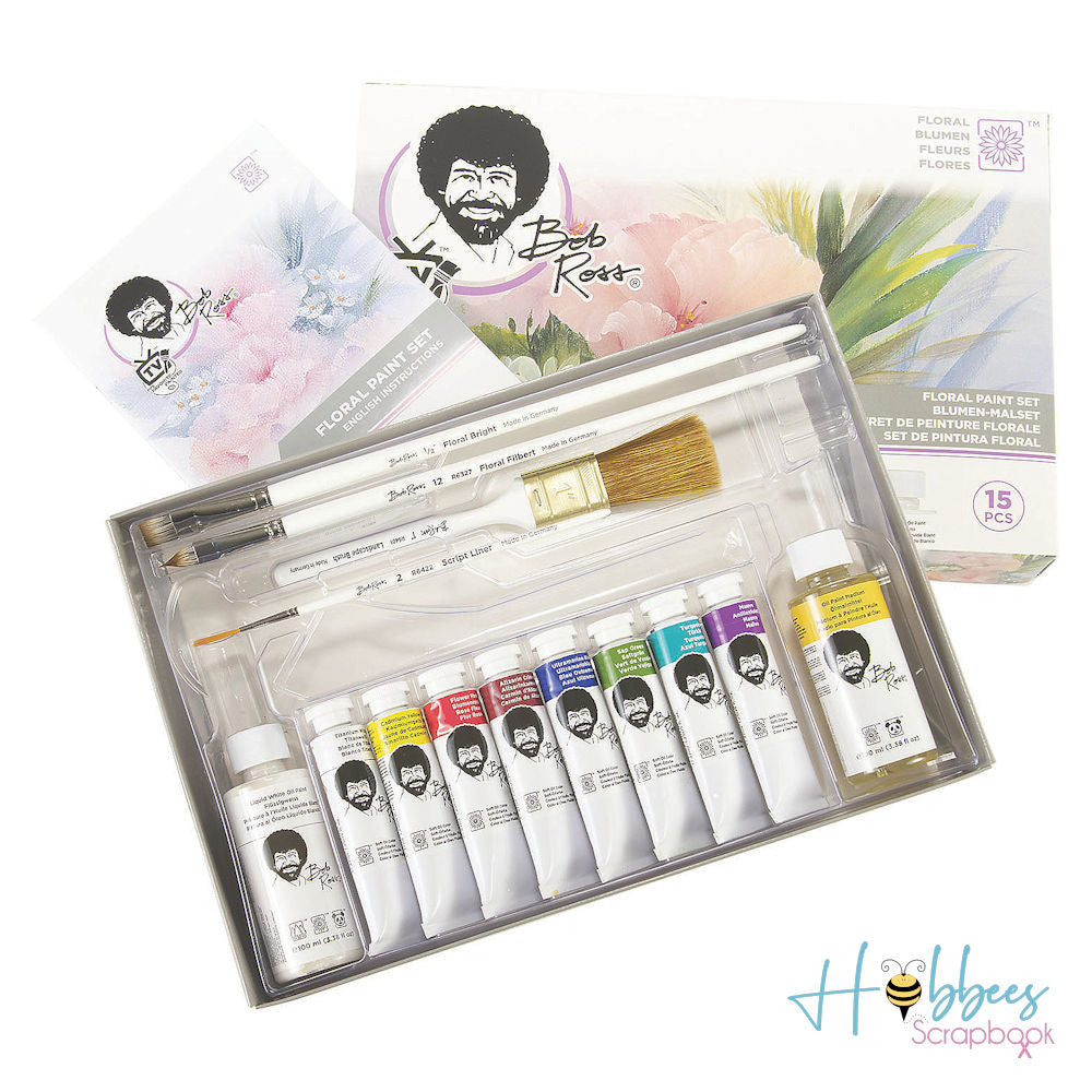 Bob Ross Flower Paint Set / Set de Pintura Bob Ross Flores