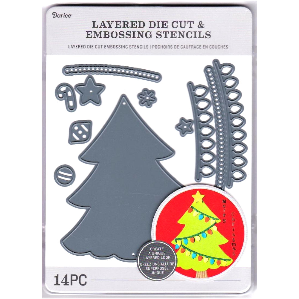 Build a Holiday Tree Die / Suaje de Arbol de Navidad