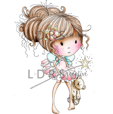 Cling Stamps Winnie Fairy Sparkle / Sello Cling de Muñeca