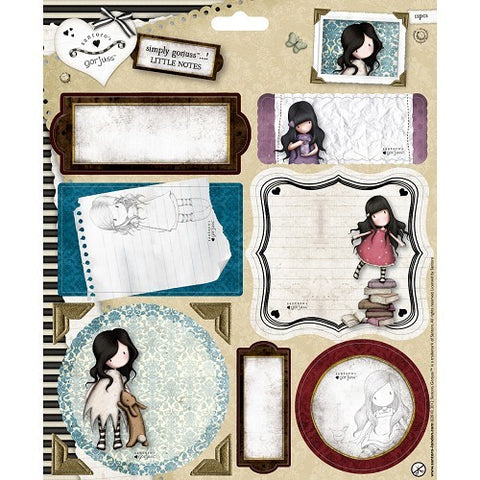 Gorjuss Die-Cut Little Notes 11/Pkg /  Notas Gorjuss