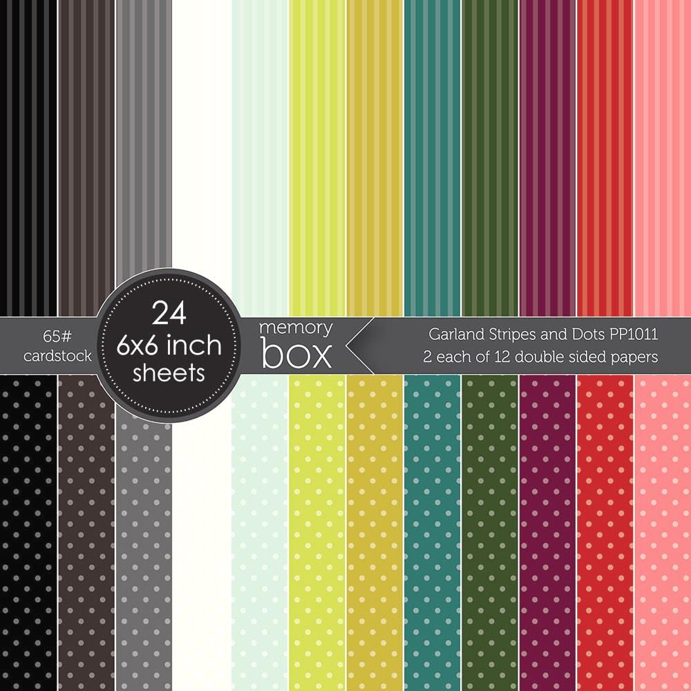 Garland Stripes & Dots Cardstock / Cartulina Doble Cara 6""