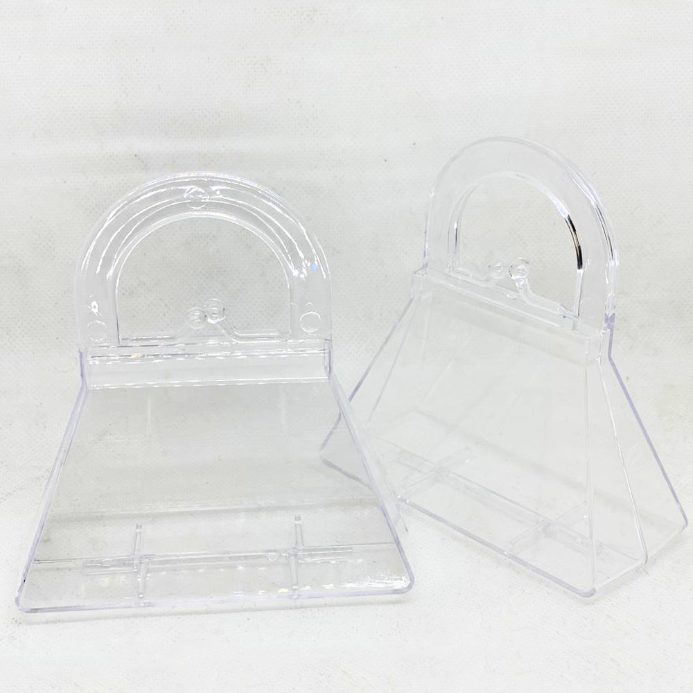 Mini Purse Clear Box / 6 Mini Bolsitas de Acrílico Transparente para Rellenar