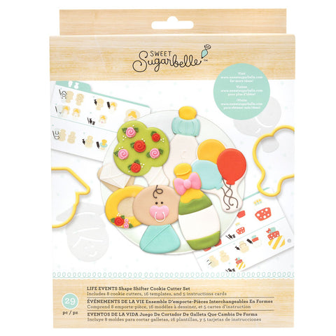 Cookie Cutter Set Life Events / Set Cortadores de Galletas Cambiables Eventos