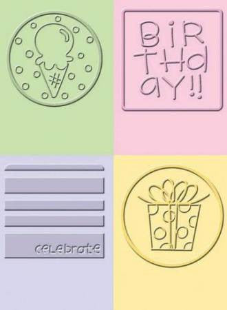 Folder de Grabado / Embossing Folder Birthday Jelly - Hobbees