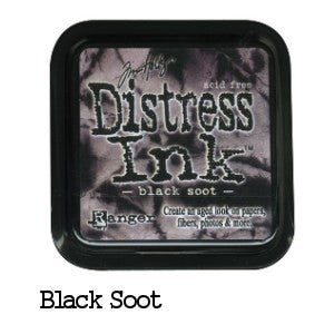 Cojin de tinta para sellos / Distress Black Soot - Hobbees