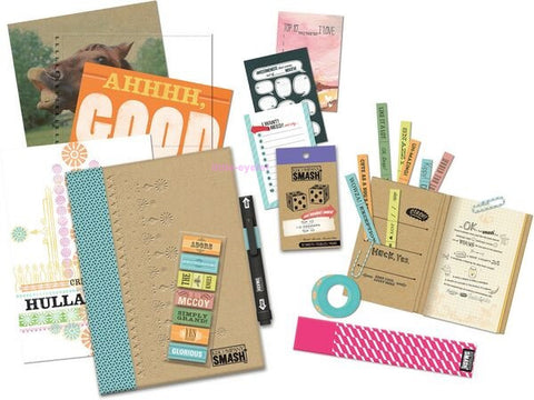 Smash Blue Folio Bundle / Kit de Cuaderno Azul y Accesorios - Hobbees - 1
