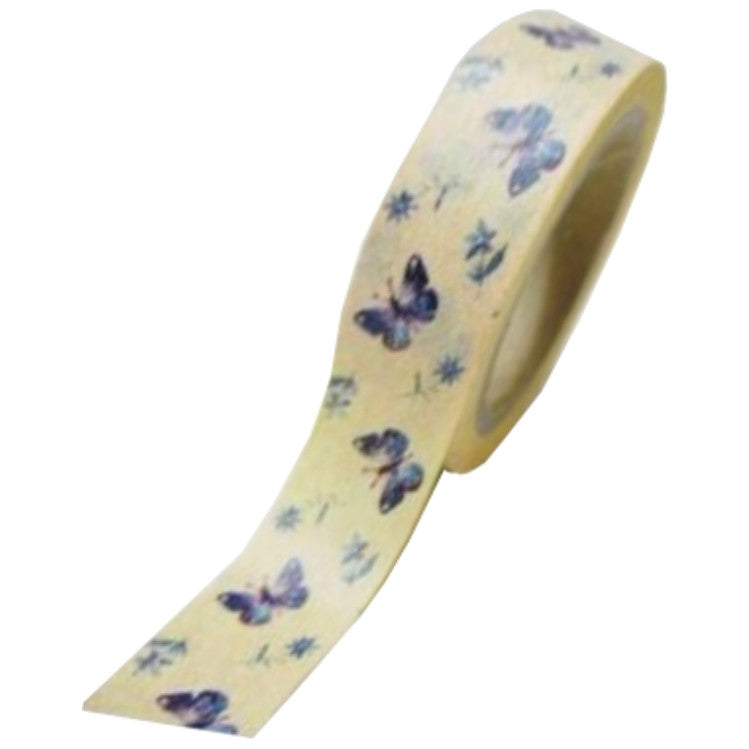 Cinta Adhesiva / Washi Tape Yellow With Butterfly - Hobbees