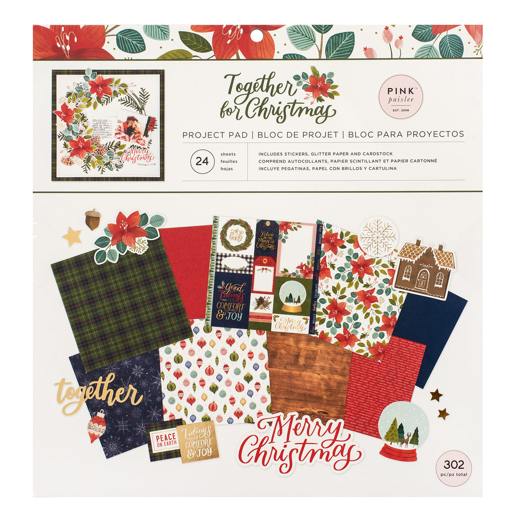Together for Christmas Project Pad / Block de Proyecto Navideño con 302 Piezas
