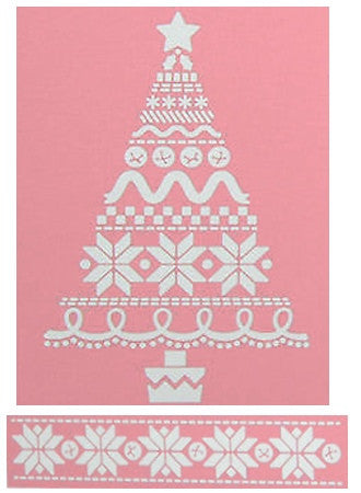 Folder de Grabado / Embossing Folder Christmas Stitches - Hobbees