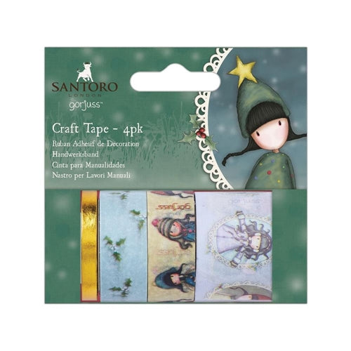 Gorjuss Craft Tape / Gorjuss Paquete de 4 Cintas Adhesivas