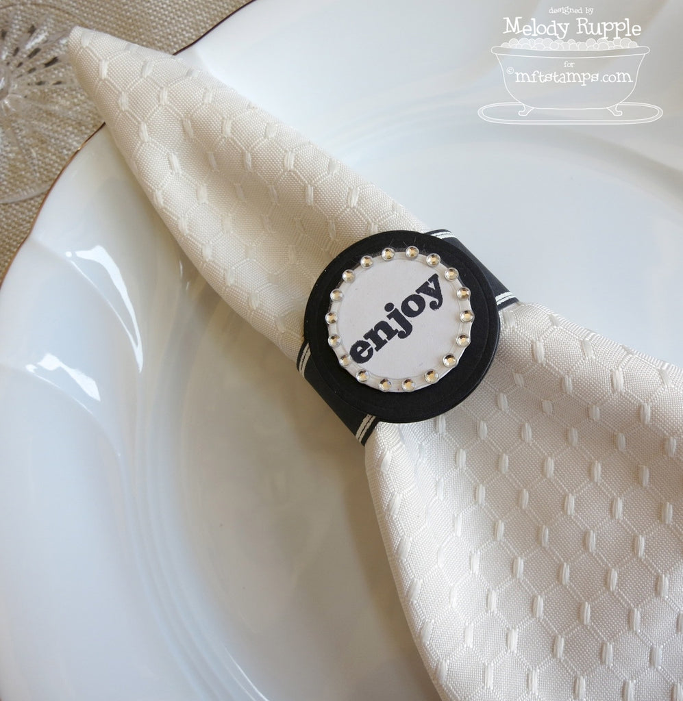 Suaje de Corte de servilletero y Tarjeta de Mesa / Napkin Ring and Place Card - Hobbees - 1