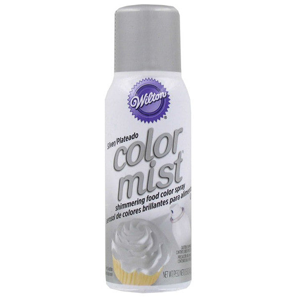 Shimmering Food Color Spray Silver / Aerosol de Colores Brillantes para Alimentos Plateado