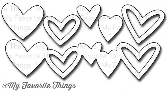 Suaje de Corte de Corazones y Bordes / Staggered Heart Border Die - Hobbees - 1